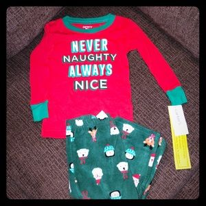 NEW Carter's 2 Piece Never Naughty Pajamas 18 Mo
